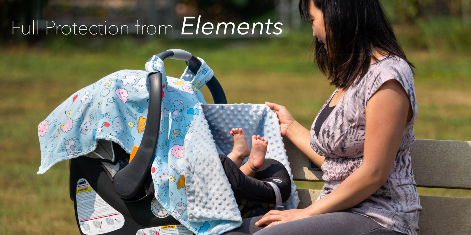 Protects from sun, wind, rain, bugs, germs and more - keeps your little one inside safe and cozy!