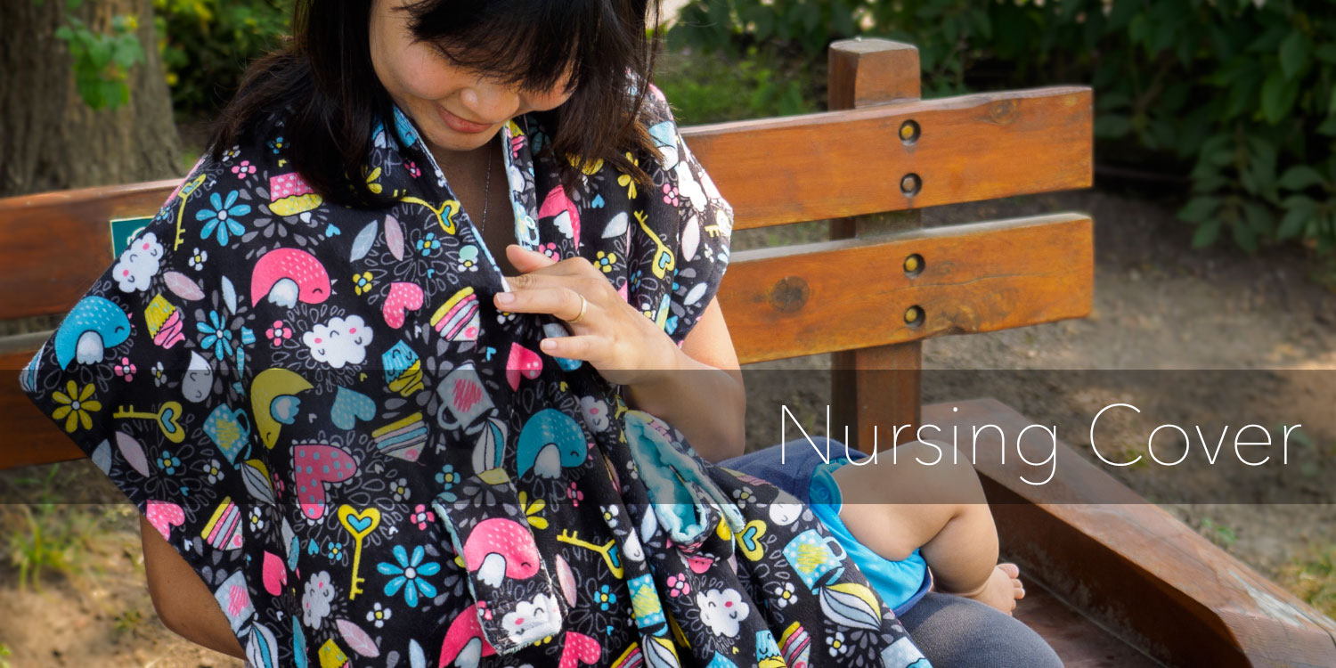 Transforms into a nursing cover for breastfeeding in seconds - just wear it like a bib! Use it as an extra baby blanket or burb cloth too!